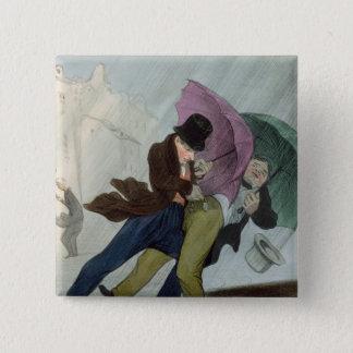 The Umbrella Trip, from 'Flibustiers Parisiens' Pinback Button