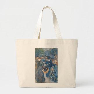 The Umbrellas by Pierre-Auguste Renoir (1881-86) Large Tote Bag