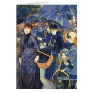 The umbrellas by Pierre Renoir Greeting Card