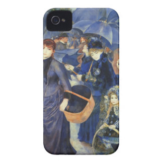 The umbrellas by Pierre Renoir iPhone 4 Cover