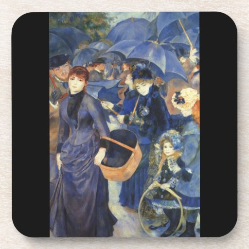 The umbrellas by Pierre Renoir Beverage Coaster