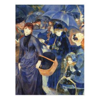 The umbrellas by Pierre Renoir Postcards
