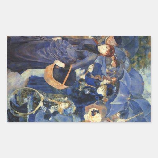 The umbrellas by Pierre Renoir Stickers