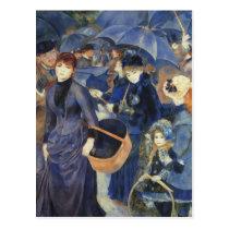 The Umbrellas by Renoir Postcard