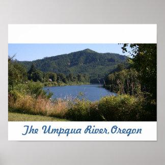 The Umpqua River, Oregon Poster