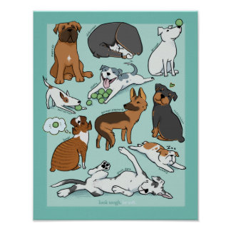 """The """"un-Tough"""" Dogs Poster - 11x14in"""
