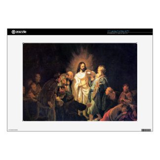 The unbelieving Thomas by Rembrandt Laptop Decals