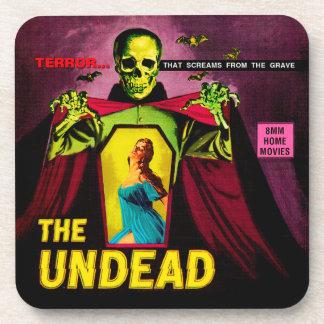 """The Undead"" 1950s Movie Film Box Drink Coaster"