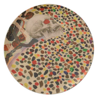 The Undead Last Cough Melamine Plate