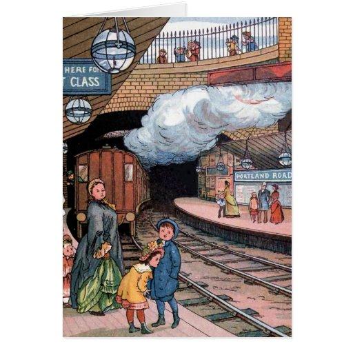 """The Underground, London"" Vintage Illustration Greeting Cards"
