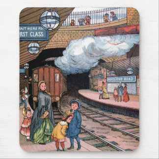"""The Underground, London"" Vintage Illustration Mouse Pad"