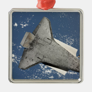 The underside of space shuttle Discovery 2 Metal Ornament