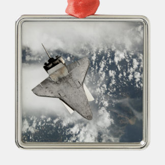 The underside of space shuttle Discovery Metal Ornament