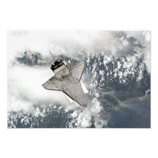 The underside of space shuttle Discovery Photo Print
