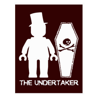 The Undertaker by Customise My Minifig Postcard