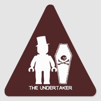The Undertaker by Customise My Minifig Triangle Sticker
