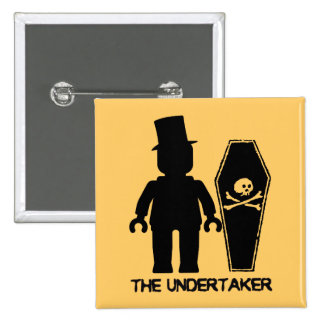The Undertaker Minifig by Customize My Minifig Pinback Buttons