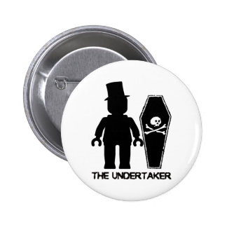 The Undertaker Minifig by Customize My Minifig Pinback Button