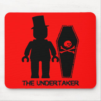 The Undertaker Minifig by Customize My Minifig Mouse Pad