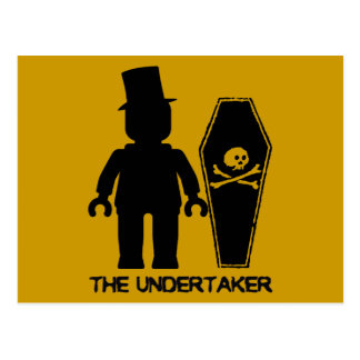 The Undertaker Minifig by Customize My Minifig Postcard