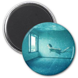 The Underwater Apartment 2 Inch Round Magnet