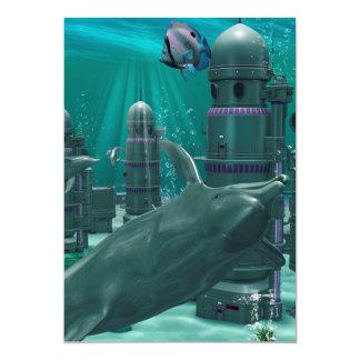 "The underwater city 5"" x 7"" invitation card"
