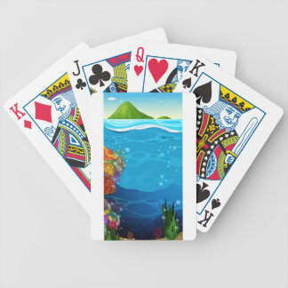 The underwater view of the ocean bicycle playing cards