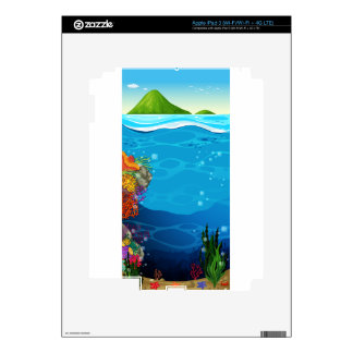 The underwater view of the ocean skins for iPad 3
