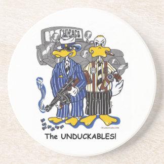 """The """"Unduckables"""" Untouchables Sandstone Coaster"""
