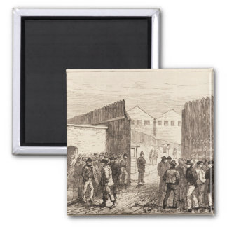 The Unemployed of London 2 Inch Square Magnet