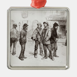 The Unemployed of London 2 Metal Ornament