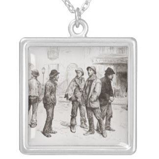 The Unemployed of London 2 Silver Plated Necklace