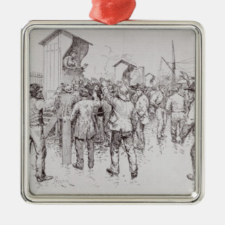 The Unemployed of London Metal Ornament