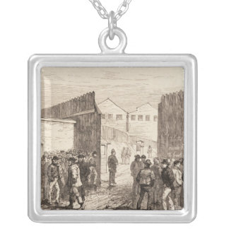 The Unemployed of London Square Pendant Necklace