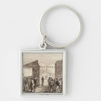 The Unemployed of London Silver-Colored Square Keychain