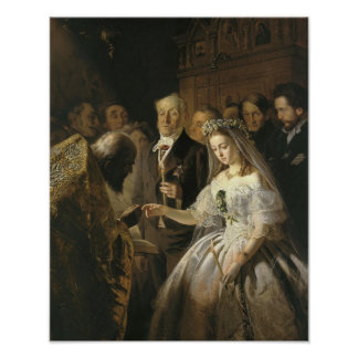 The Unequal Marriage, 1862 Poster