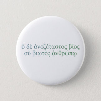 The Unexamined Life Pinback Button