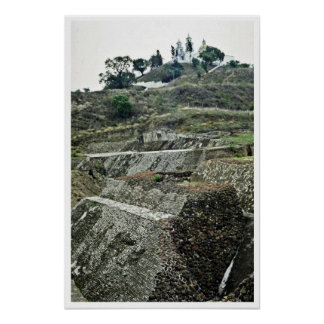 The Unexcavated Great Pyramid, Cholula Print
