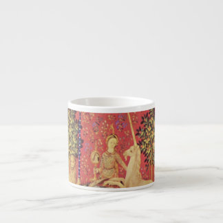 The Unicorn and Maiden Medieval Tapestry Image 6 Oz Ceramic Espresso Cup