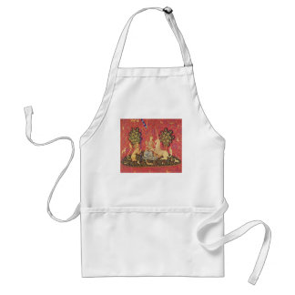 The Unicorn and Maiden Medieval Tapestry Image Adult Apron