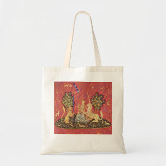 The Unicorn and Maiden Medieval Tapestry Image Budget Tote Bag
