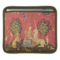 The Unicorn and Maiden Medieval Tapestry Image iPad Sleeve