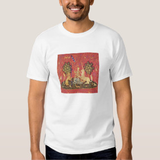 The Unicorn and Maiden Medieval Tapestry Image Shirt