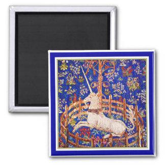 """The Unicorn in Captivity"" 2 Inch Square Magnet"