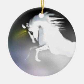 The Unicorn in the Mist Ceramic Ornament