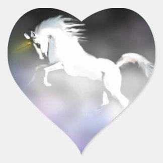 The Unicorn in the Mist Heart Sticker