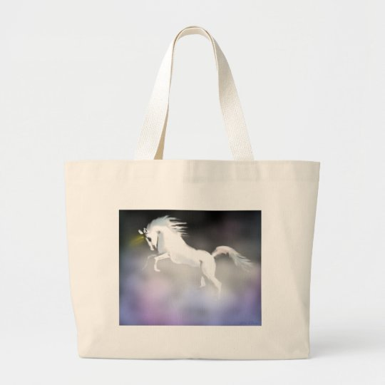 The Unicorn in the Mist Large Tote Bag