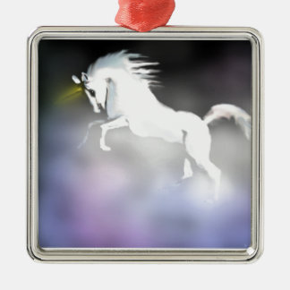 The Unicorn in the Mist Metal Ornament