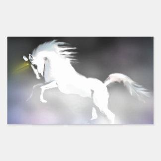 The Unicorn in the Mist Rectangular Sticker