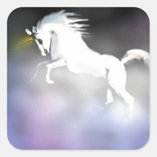 The Unicorn in the Mist Square Sticker